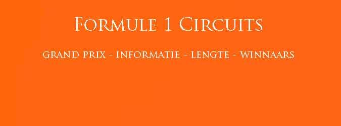 Formule 1 Circuits Winnaars